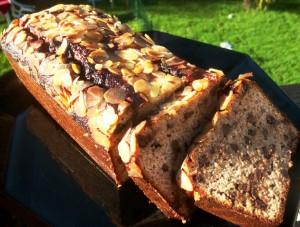 Cake Paléo banane chocolat