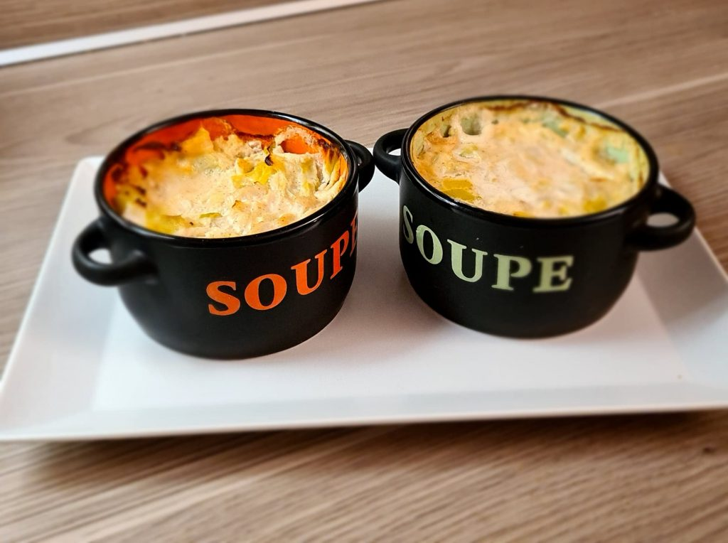 Recette de Soup' coco poireaux St-Jacques