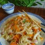 Chou chinois aux carottes et lardons paleo