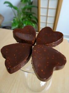 Cœurs de chocolat intense au sésame Paléo