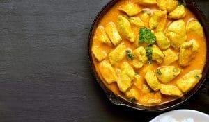 Recette paléo du curry coco au poulet