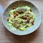 Recette vegan de courgettes protéinées