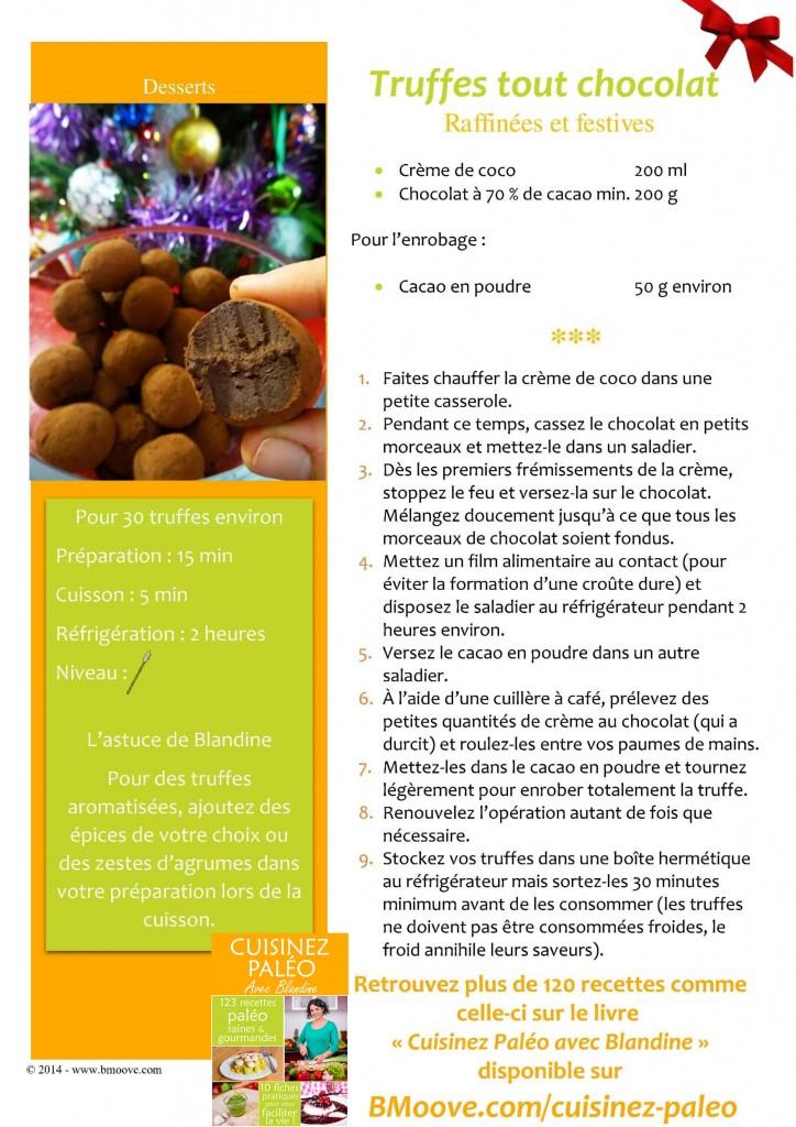 Recette truffes chocolat