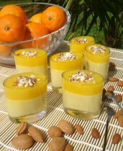 Verrines amande-orange Paléo