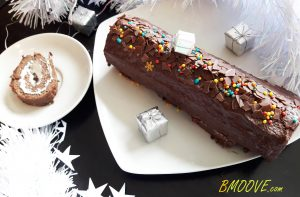 Bûche de Noël Paléo chocolat & menthe