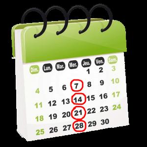 calendrier coaching paléo