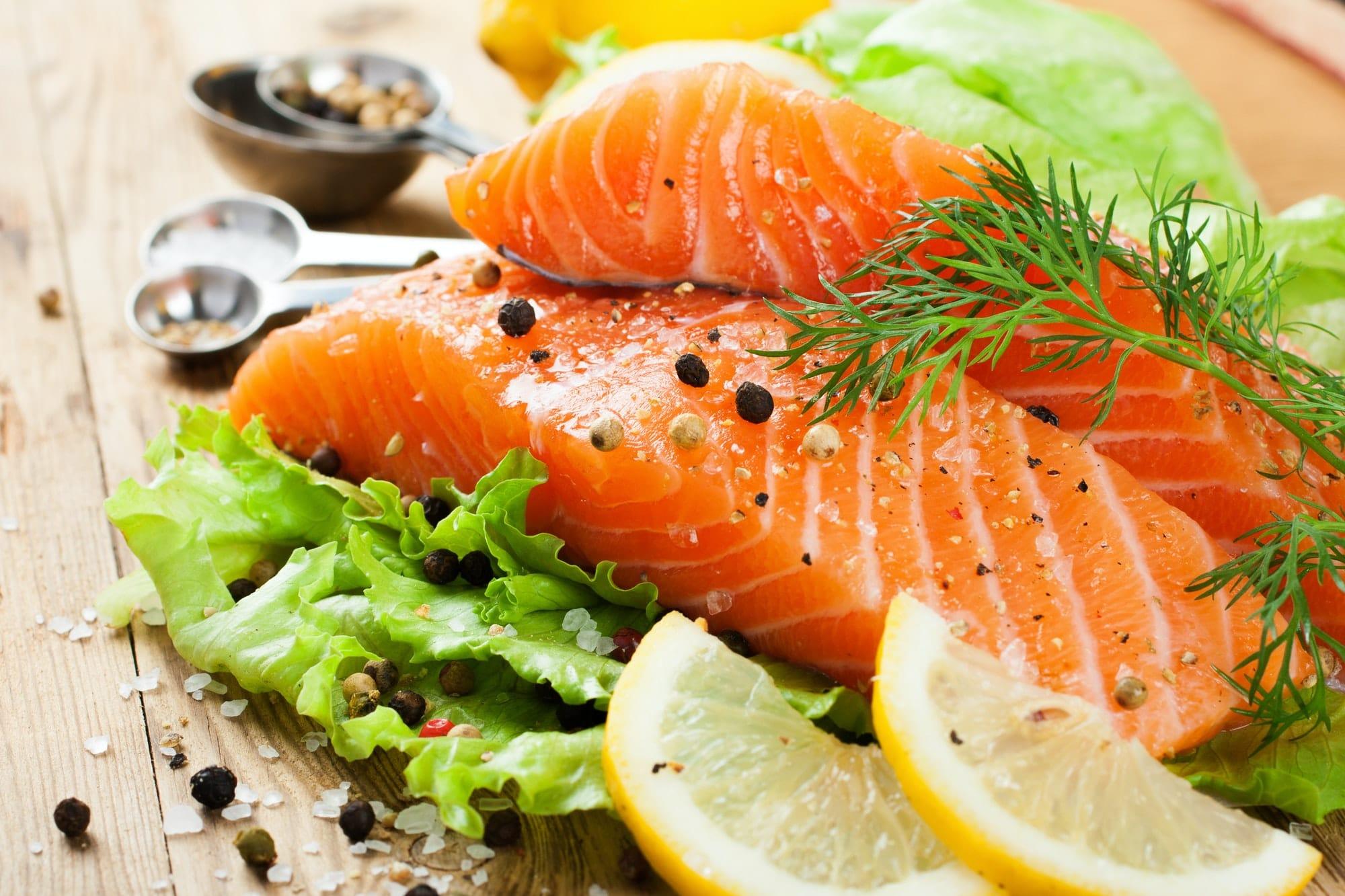saumon citron et salade