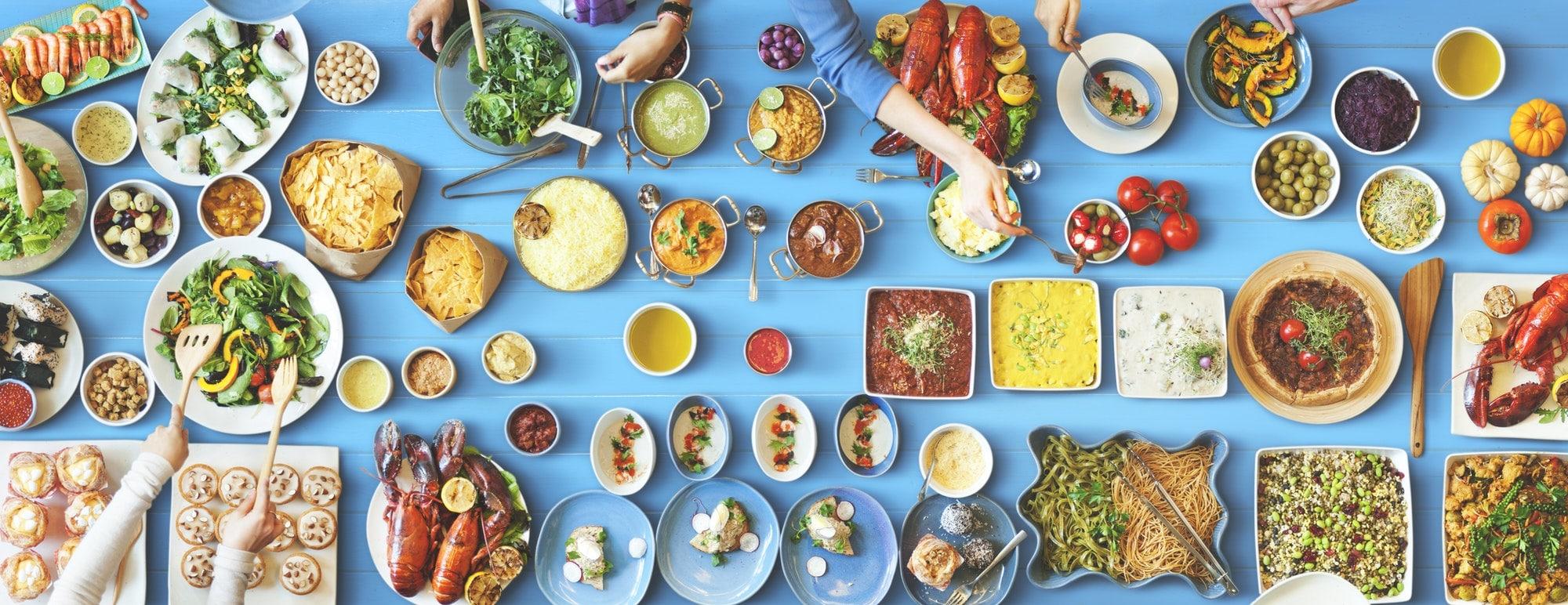 buffet de plats paléo