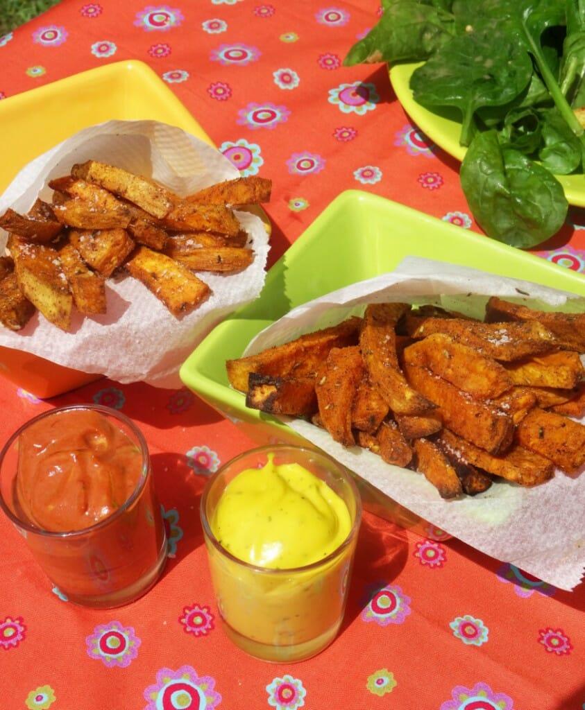 régime paléo recettes : les frites de patate douce
