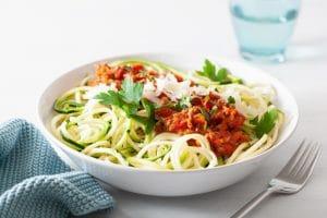 spaghettis à la bolognaise paléo