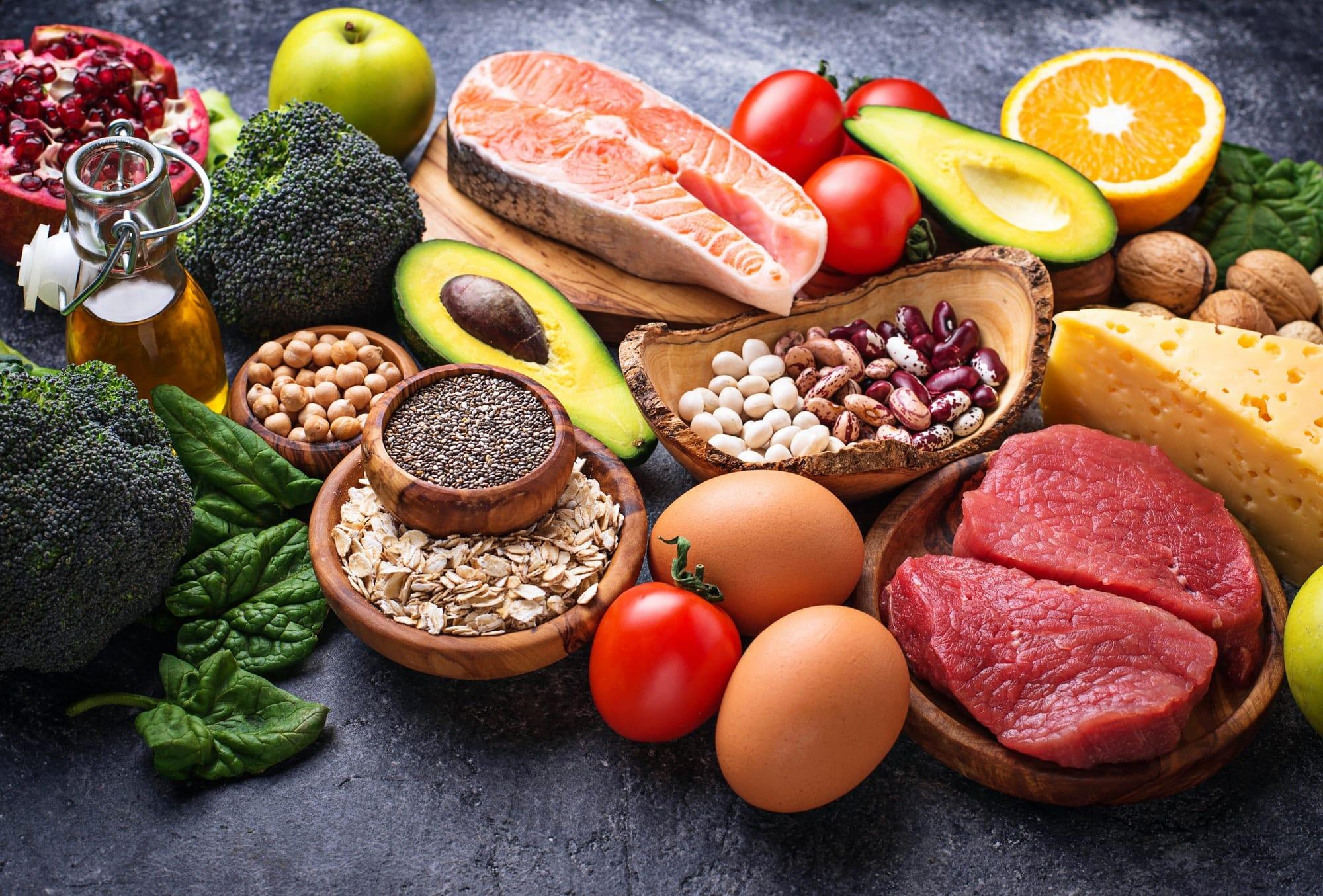 ensemble d'aliments paléo