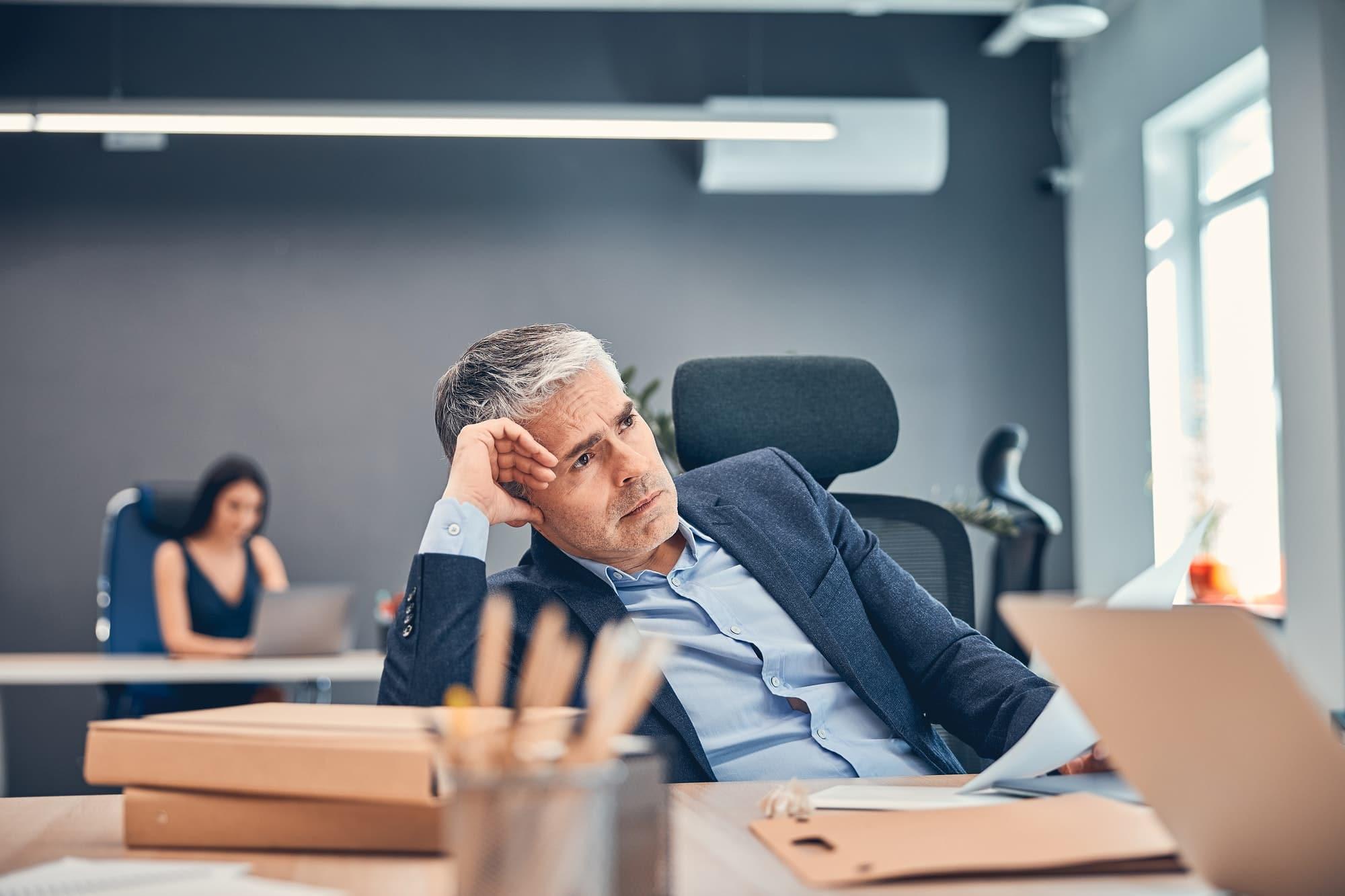 business man stressé
