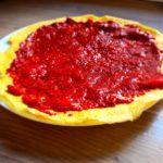 Galette œufs / amande et « chiafiture »