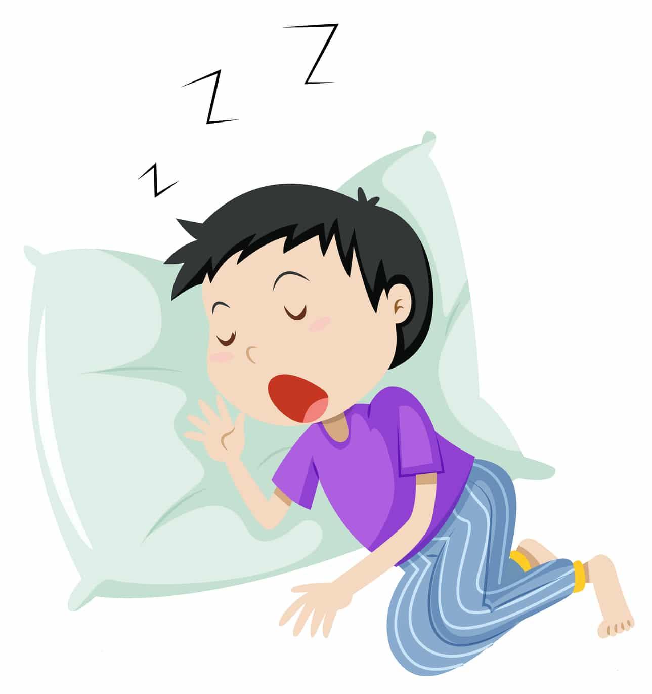 dessin d'un garçon en train de dormir