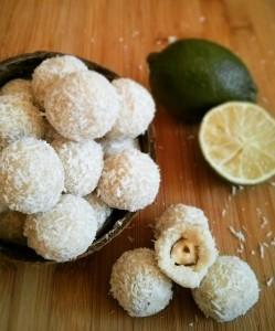 Truffes exotiques coco-citron vert